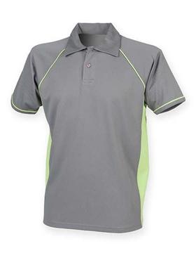 Polo Shirt FH370 Performance Grijs-Lime
