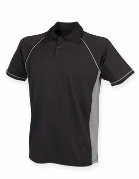 Polo Shirt FH370 Performance Zwart-Grijs