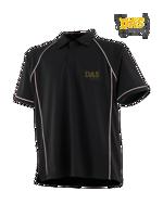 Afbeeldingen van Polo Shirt  FH370 Performance Black-White
