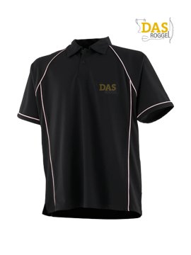 Bild von Polo Shirt  FH370 Performance Black-White