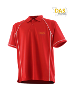 Afbeeldingen van Polo Shirt  FH370 Performance Red-White