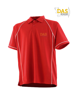 Image de Polo Shirt  FH370 Performance Red-White