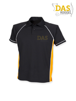 Afbeeldingen van Polo Shirt  FH370 Performance Black-Amber