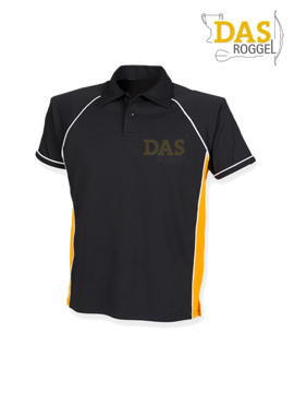 Image de Polo Shirt  FH370 Performance Black-Amber