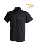 Afbeeldingen van Polo Shirt  FH370 Performance Black-Black