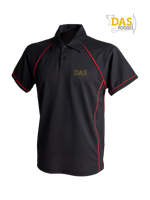Afbeeldingen van Polo Shirt  FH370 Performance Black-Red