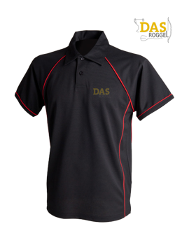 Bild von Polo Shirt  FH370 Performance Black-Red