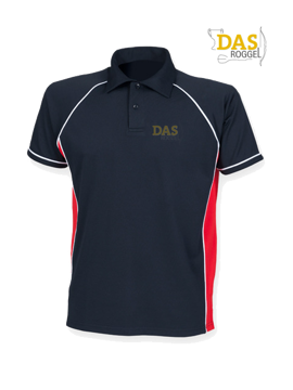 Bild von Polo Shirt  FH370 Performance Navy-Red-White