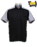 Afbeeldingen van Dartshirt Gamegear K186 Zwart-Zilver-Wit