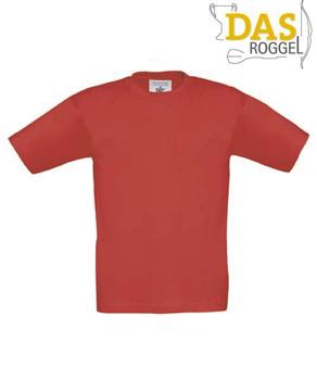T-Shirt B&C 190 Kids Red