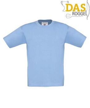 T-Shirt B&C 190 Kids Sky Blue