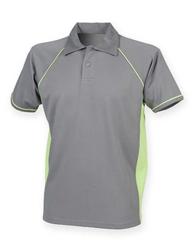 Polo Shirt FH370 Performance Grijs-Lime