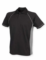 Polo Shirt FH370 Performance Zwart-Grijs